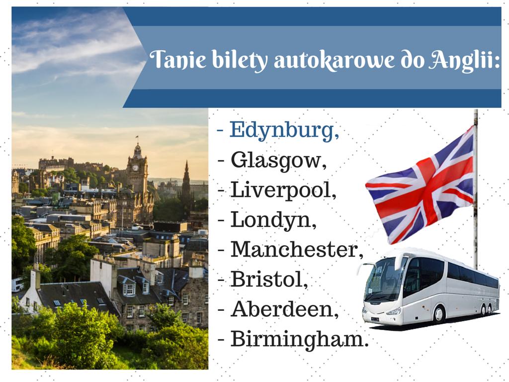 Polska - Edynburg, autokary do anglii